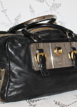 Оригинальная кожаная сумка prada 100% натуральная кожа