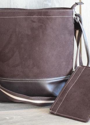 Шикарная новая большая сумка с косметичкой от tchibo tcm