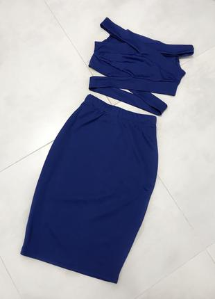Костюм юбка+топ, платье