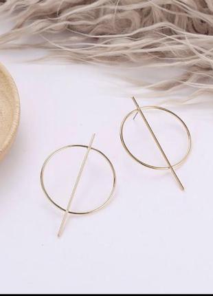 Серьги кольца, сережки, бижутерия