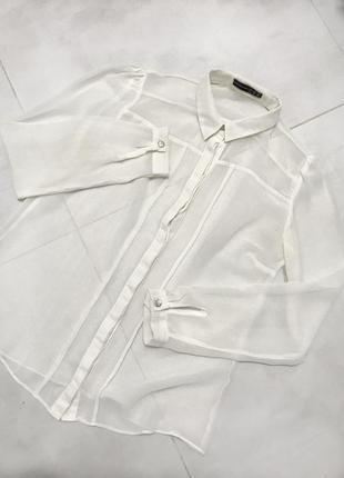 Блузка прозрачная, шифоновая, рубашка atmosphere