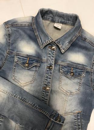 Пиджак джинсовый, короткий