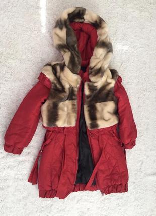 Распродажа! пуховик детский, пальто с мехом, шубка