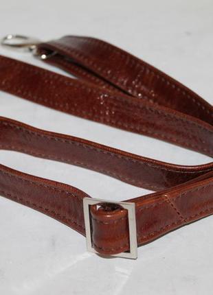 Кожаный плечевой ремень на сумку.длинная ручка на сумку