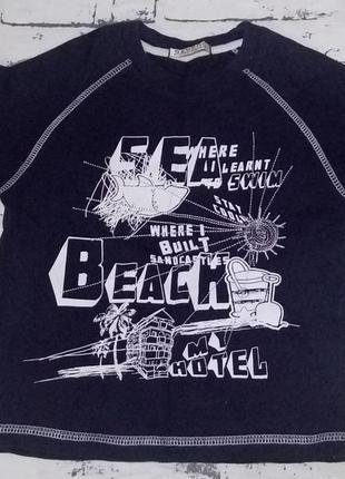 Фирменная котоновая футболка 3-4 года.