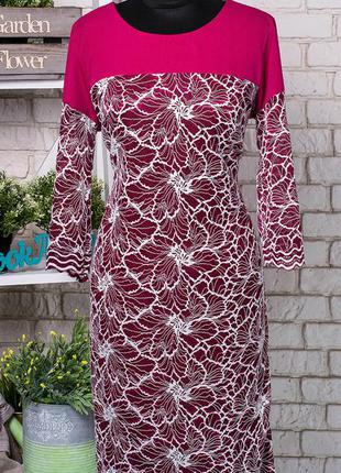 Изысканное и  женственное платье из костюмной ткани 50-54