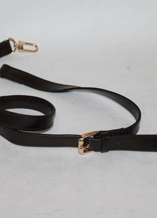 Кожаный плечевой ремень louis vuitton.длинная ручка на сумку
