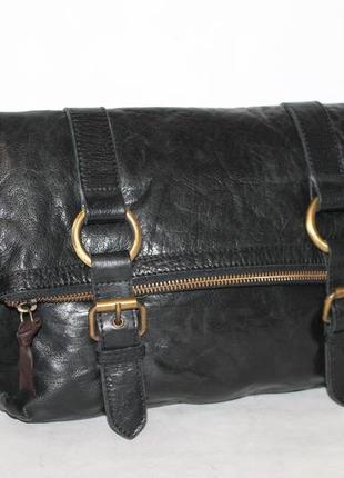 Кожаная сумка через плечо/мессенджер