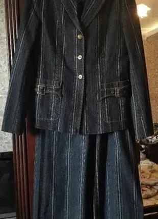 Костюм женский тройка котон стрейч: брюки, пиджак, желетка, галст