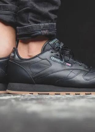 Кроссовки Reebok Classic Leather Gum оригинал