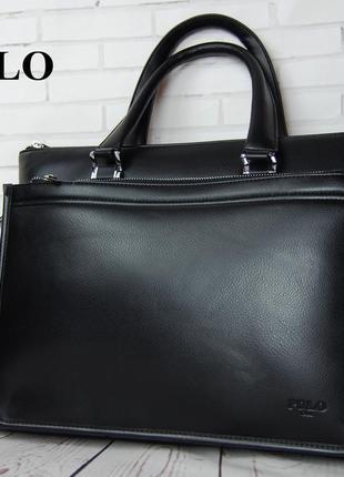 Мужская сумка-портфель polo под формат а4 сумка для документов...
