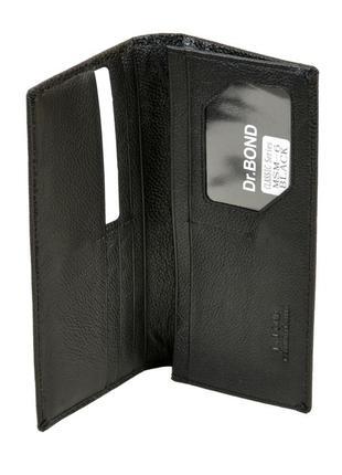 Мужской кожаный кошелек, портмоне dr.bond из натуральной кожи...