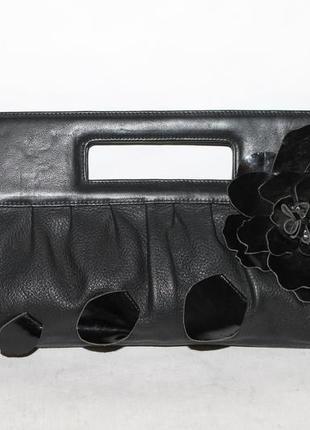 Кожаный клатч/сумка кроссбоди