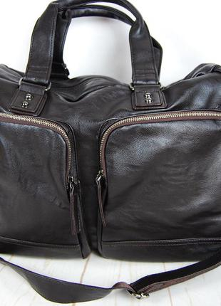 Мужская дорожная сумка. сумка для поездок. коричневая ксд7