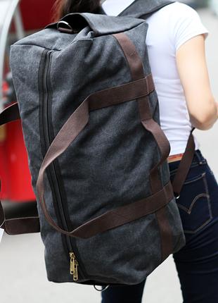 Большая дорожная сумка из холста. сумка-трансформер. дорожный ...