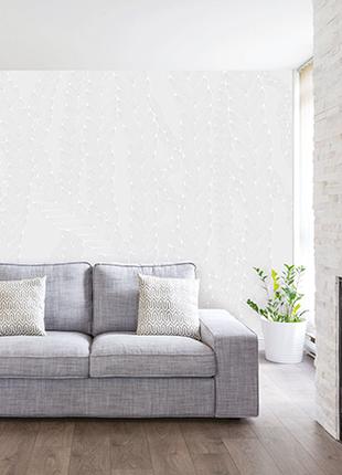 Рельефное дизайнерские панно 3D Weave White structure w/o paint