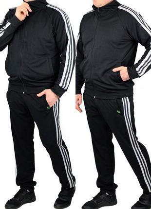 Повседневный мужской спортивный костюм с лампасами