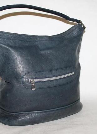Большая кожаная сумка longchamp