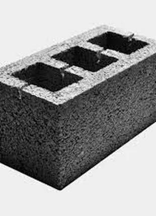 Бетонный стеновой блок 390х190х190 Марка М75