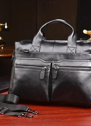 Портфель из натуральной кожи сумка а4 кожаная мужская мужской ...