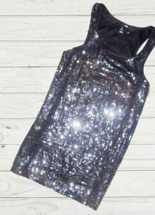 Праздничная цена 14.02! шикарное платье оверсайз, пайетки