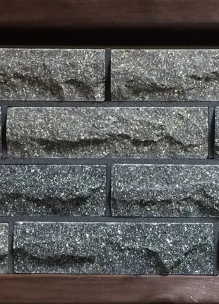 Кирпич облицовочный ECOBRICK скала 250x100x65 мм серый, черный