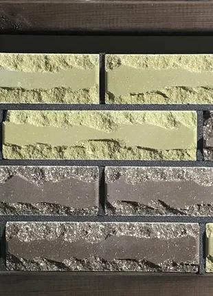 Кирпич облицовочный ECOBRICK скала 250x100x65 мм коричневый, олив