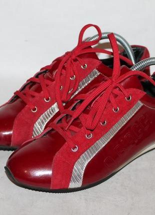 Итальянские кожаные кроссовки от antonio biaggi 37 размер