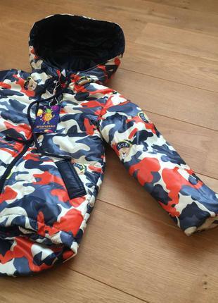 Яркая камуфляжная курточка на мальчика 3-5 лет
