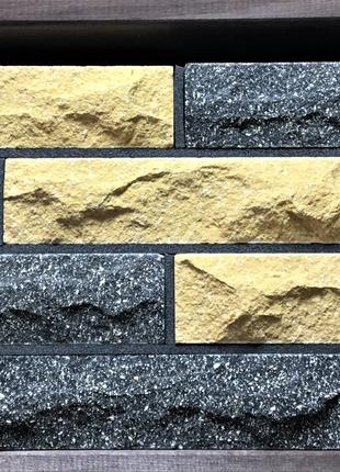 Кирпич облицовочный ECOBRICK скала 250x100x65 мм черный, желтый