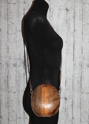 Оригинальная кожаная сумка кроссбоди/кожа питона