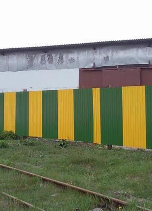 Забор Фасад Стена Ограждение Профнастил
