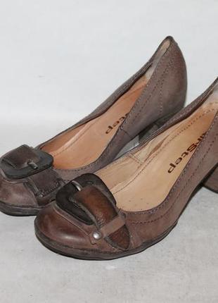 Комфортные кожаные туфли airstep 38 размер 100% натуральная кожа
