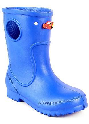 Синие сапоги на дождь из пены эва, резиновые сапоги