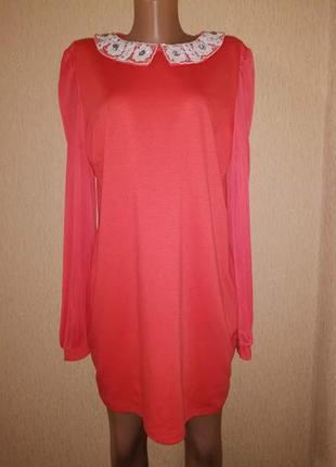 🔥🔥🔥красивое яркое короткое женское платье, туника 16 р. atmosp...
