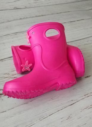 Сапоги на дождь из пены эва, резиновые сапоги розовые