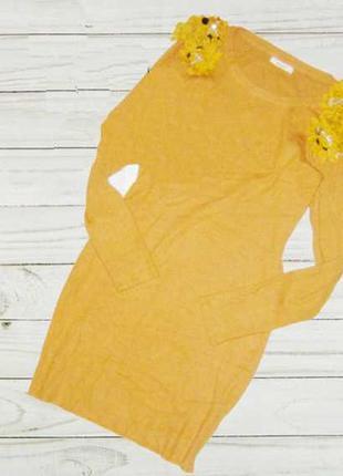 Обалденное платье в рубчик ,с воланами на плечах