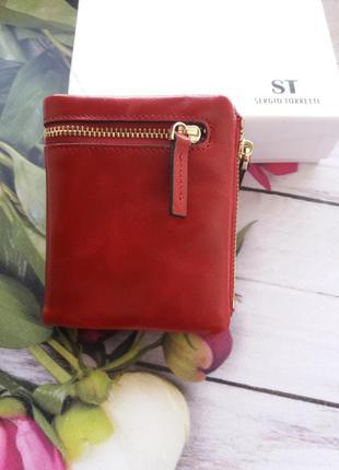 Небольшой кожаный кошелек женский шкіряний жіночий гаманець