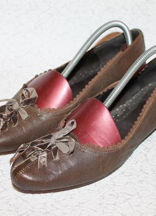 Стильные  кожаные туфли балетки от hugo boss 100% натуральная ...