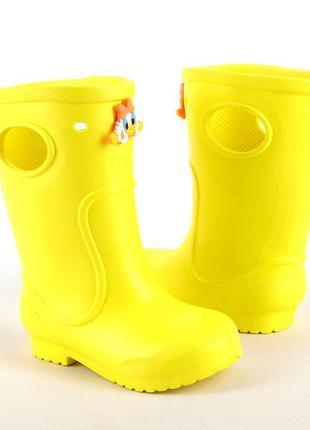 Желтые сапоги на дождь из пены эва, резиновые сапоги