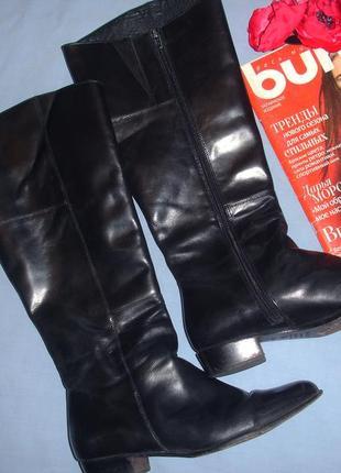 Сапоги женские черные высокие размер 40-41 демисезонные осенни...