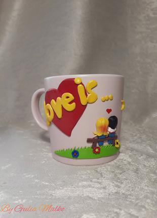 Чашка ко дню влюбленных (love is...)