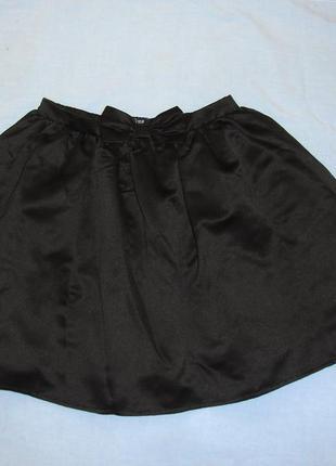 Юбка черная школьная детская в школу на 9-10-11 лет форма дево...