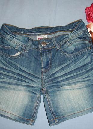 Детские шорты джинсовые на рост 152 см 11-12 лет с помятостью ...