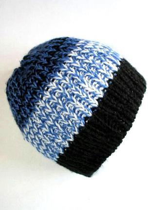 Тёплая молодежная вязаная шапка на флисе, takko fashion access...