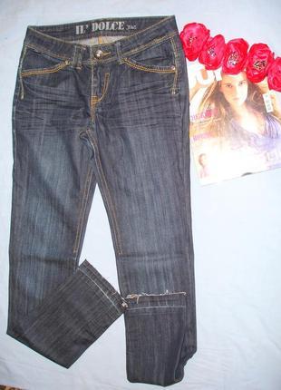 Джинсы женские модные размер 40-42 / 6-8 w26 с эффектом помято...