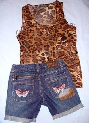 Шорты джинсовые на рост 158 см девочке 12-13 лет короткие бабо...