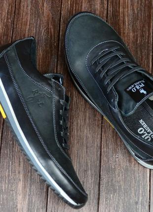 Мужские кожаные кроссовки polo Ralph Lauren