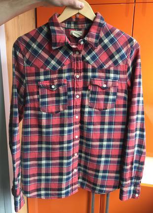 levis рубашка женская размер L клечатая рубашка guess Zara mango