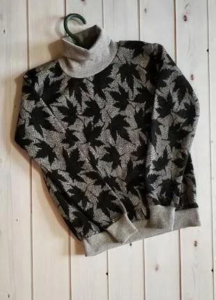 Теплый детский свитер, для девочек и мальчиков, гольфик